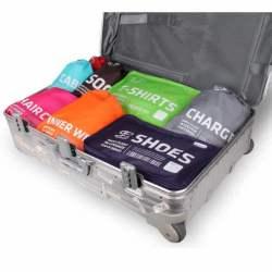 Poches de rangement voyage pour chargeur et câbles ALIFE dans valise