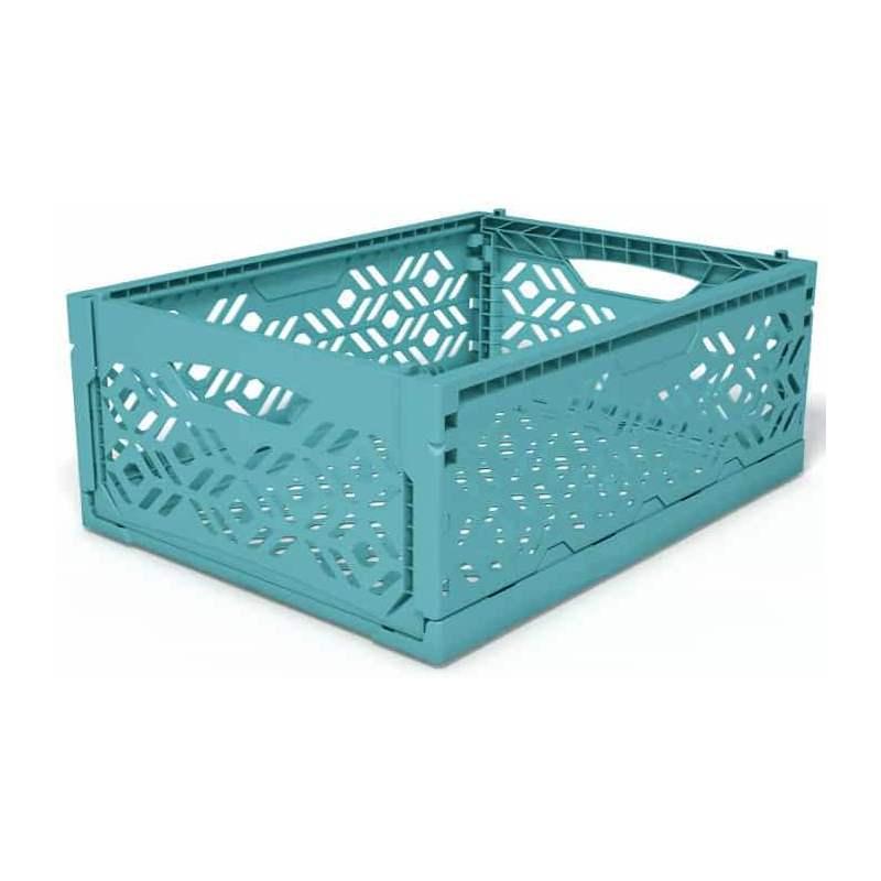 Cagette plastique moyenne bleu
