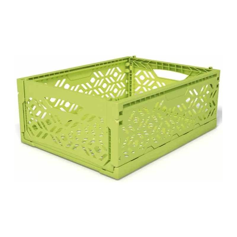 Cagette plastique moyenne vert