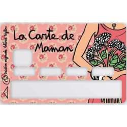 Sticker carte bancaire de Maman