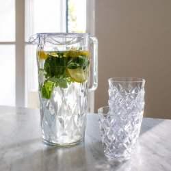 carafe et verre plastique intérieur